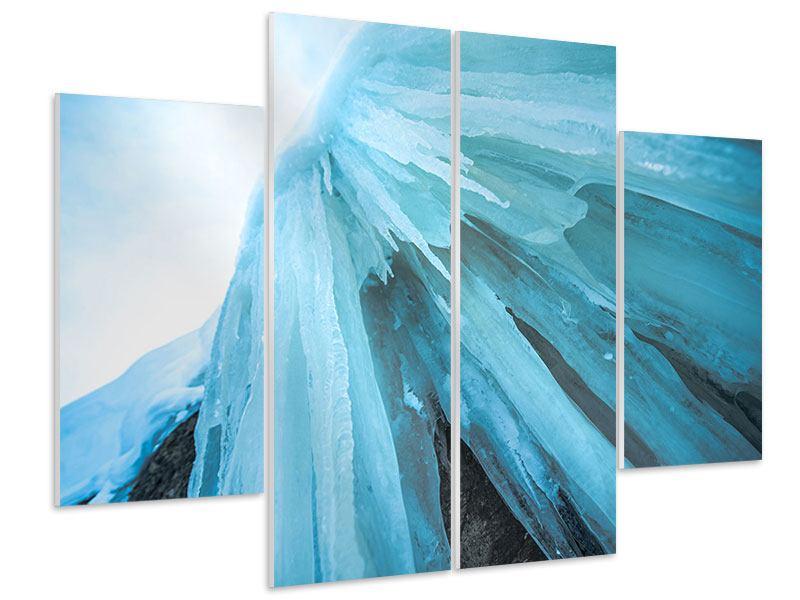 Hartschaumbild 4-teilig Die Eiswand