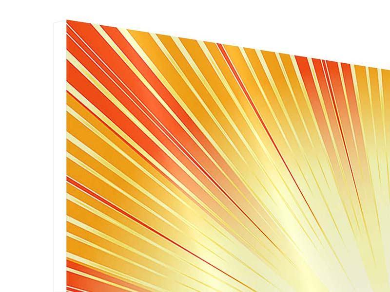 Hartschaumbild 4-teilig Abstrakte Retro Sonne