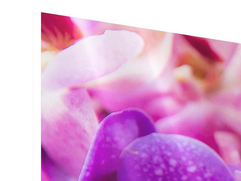 Hartschaumbild 4-teilig Im Orchideenparadies