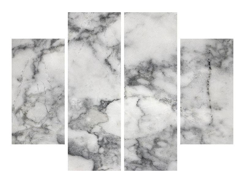 Hartschaumbild 4-teilig Klassischer Marmor