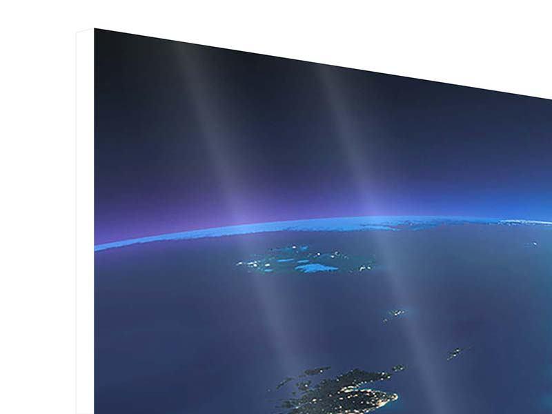 Hartschaumbild 4-teilig Close Up Planet Erde