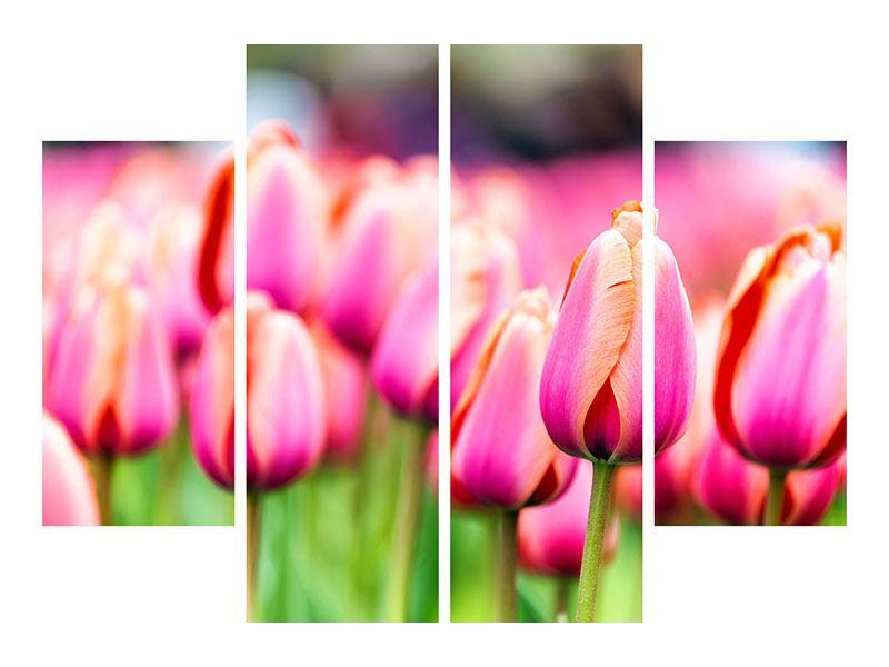 Hartschaumbild 4-teilig Pretty in Pink