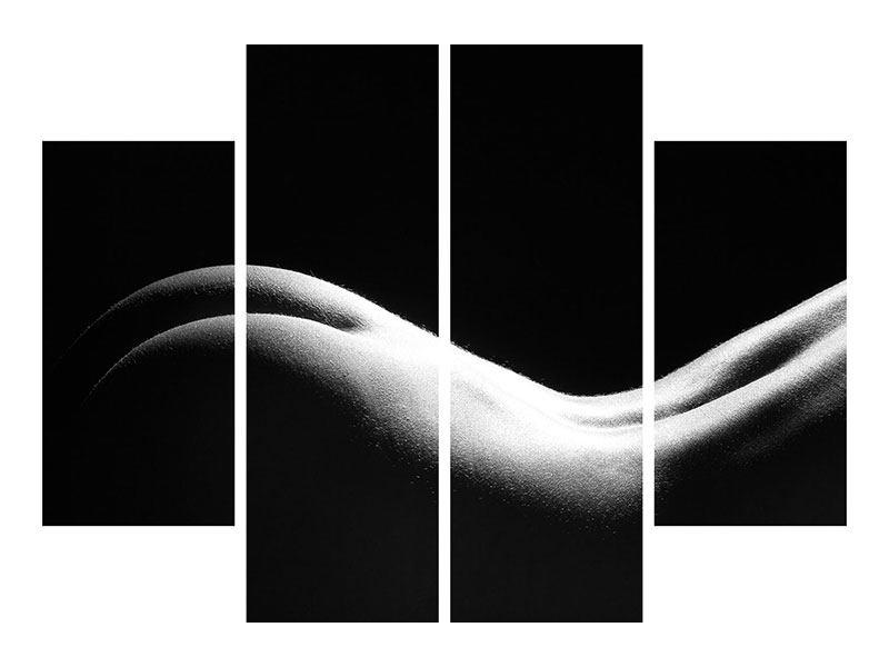 Hartschaumbild 4-teilig Nude