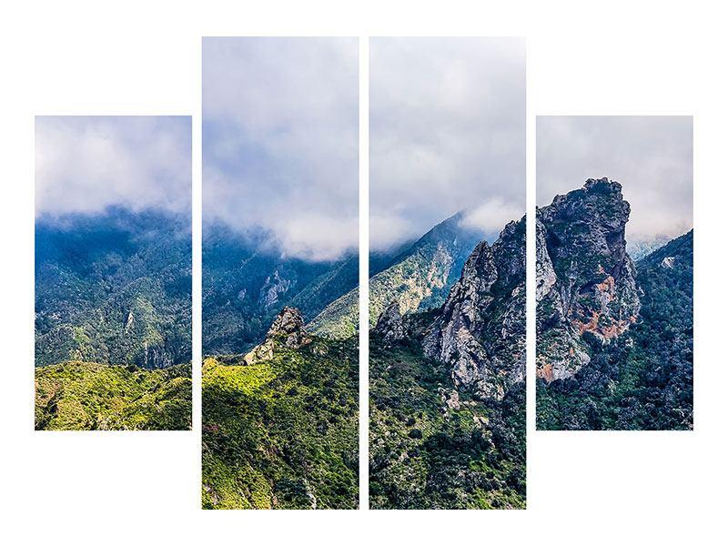 Hartschaumbild 4-teilig Der stille Berg