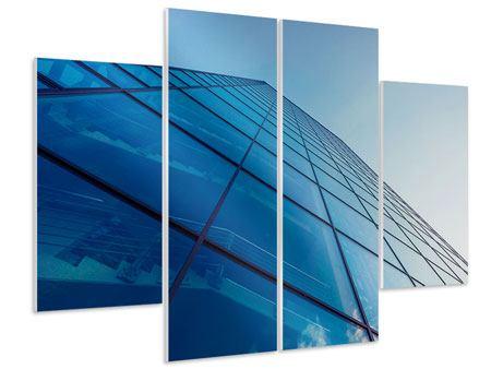 Hartschaumbild 4-teilig Wolkenkratzer-Highlight