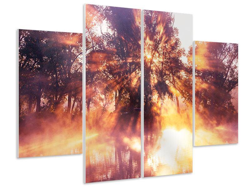 Hartschaumbild 4-teilig Die Waldspiegelung