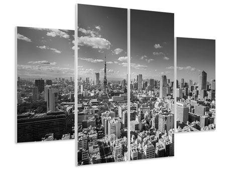 Hartschaumbild 4-teilig Tokio