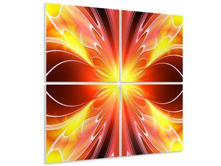 Hartschaumbild 4-teilig Abstraktes Farbenspektakel
