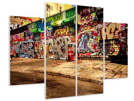 Hartschaumbild 4-teilig NY Graffiti
