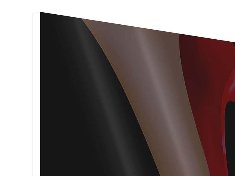 Hartschaumbild 4-teilig Der rote High Heel