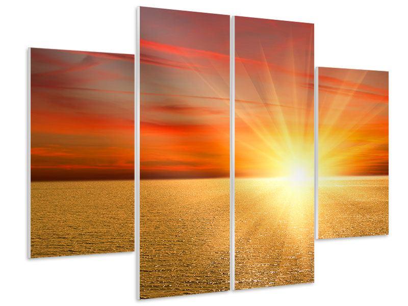 Hartschaumbild 4-teilig Der Sonnenuntergang