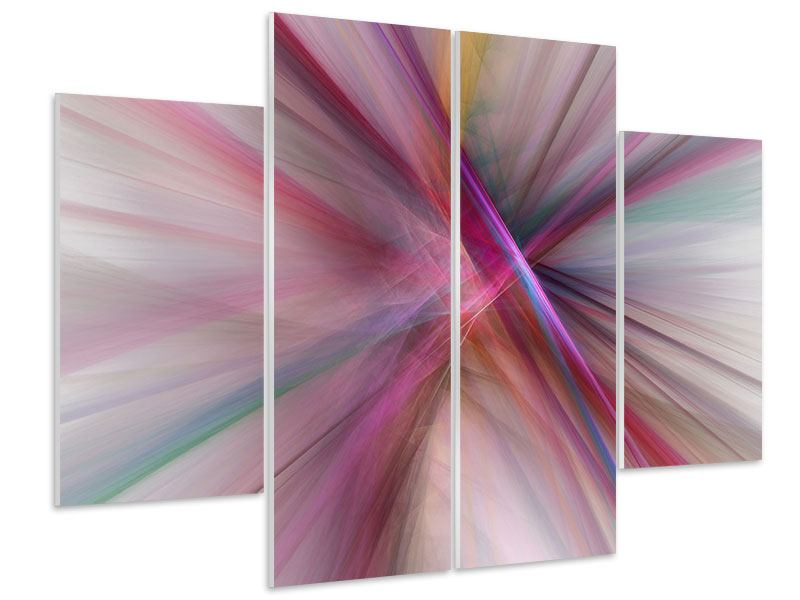 Hartschaumbild 4-teilig Abstraktes Lichterleuchten