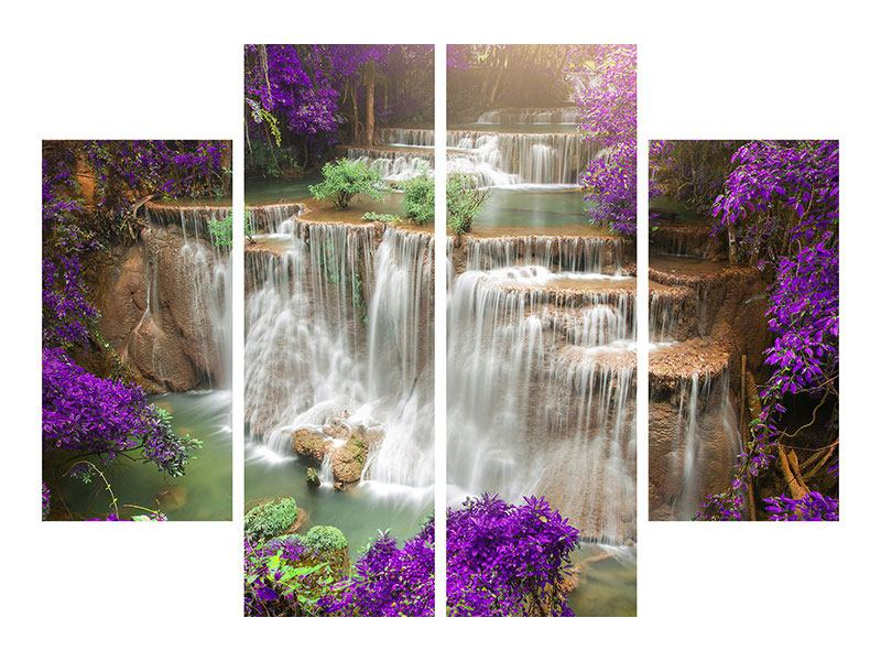 Hartschaumbild 4-teilig Garten Eden
