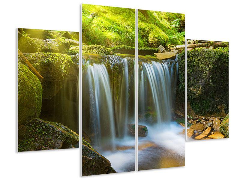 Hartschaumbild 4-teilig Schönheit des fallenden Wassers