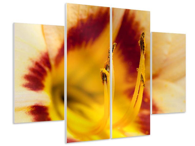 Hartschaumbild 4-teilig Riesenlilie