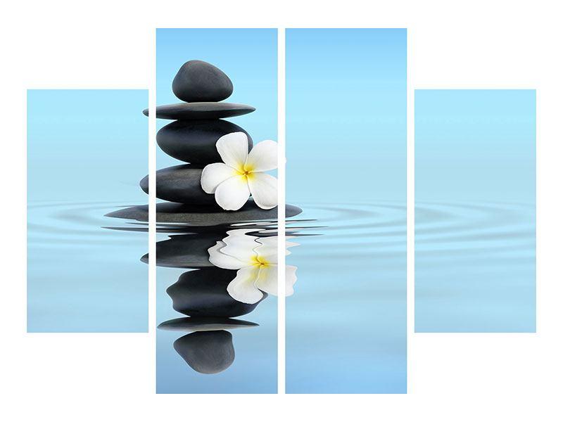 Hartschaumbild 4-teilig Zen Steine