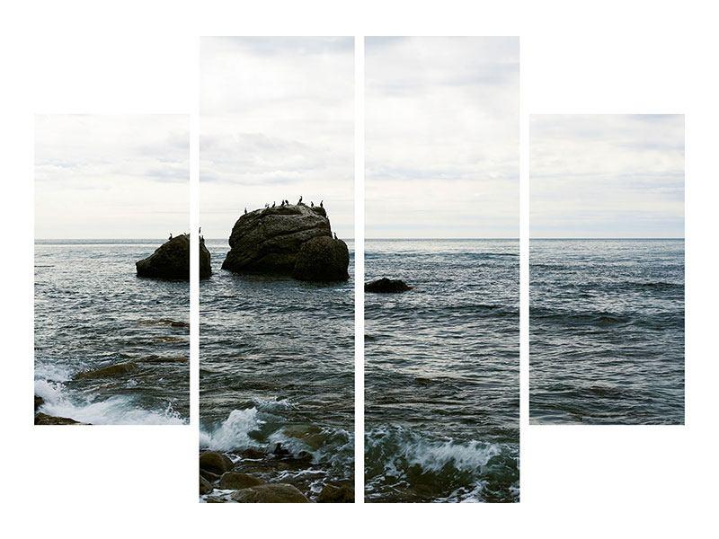 Hartschaumbild 4-teilig Leise Wellen