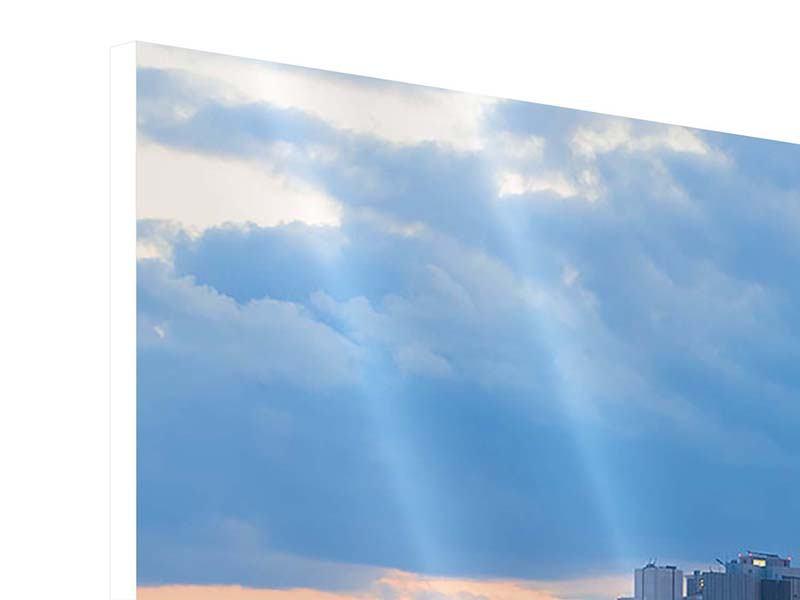 Hartschaumbild 4-teilig Skyline Frankfurt am Main