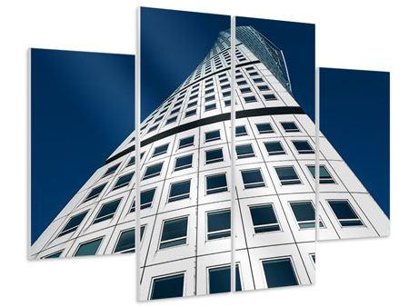 Hartschaumbild 4-teilig Meisterstück Wolkenkratzer