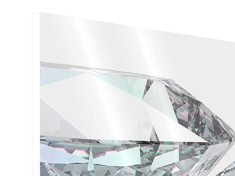 Hartschaumbild 4-teilig XXL Diamant