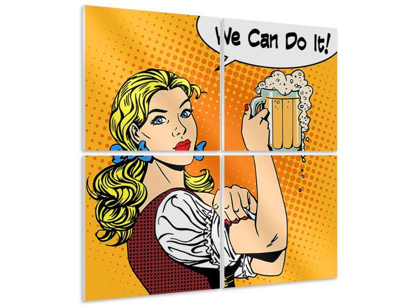 Hartschaumbild 4-teilig We Can Do It