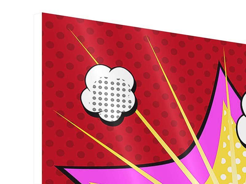 Hartschaumbild 4-teilig Pop Art Boom