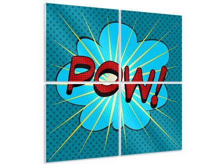 Hartschaumbild 4-teilig Pop Art Pow