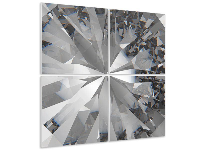 Hartschaumbild 4-teilig Riesendiamant