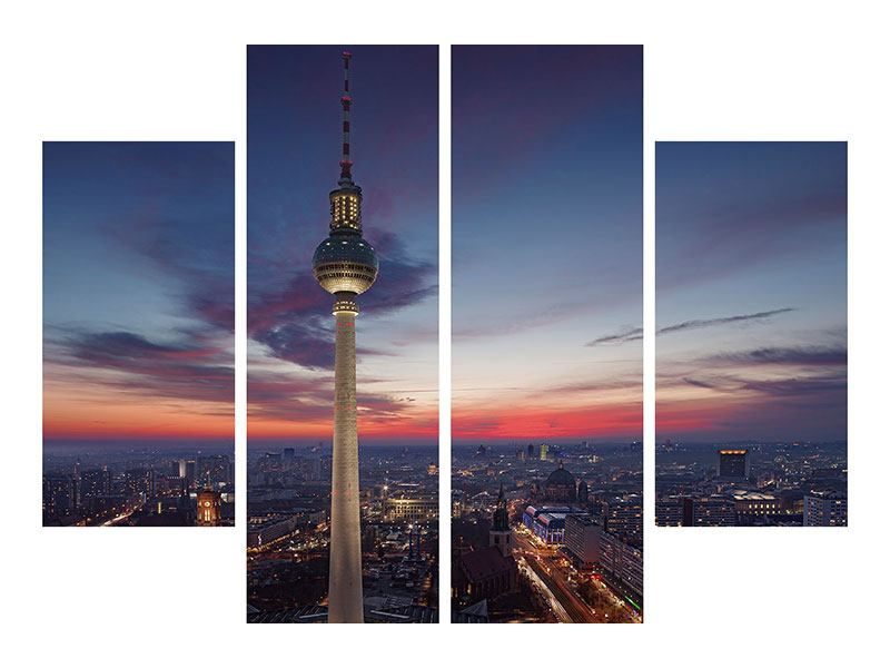 Hartschaumbild 4-teilig Berlin