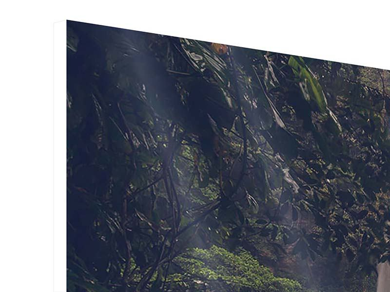 Hartschaumbild 4-teilig Wasserfall in Mexiko