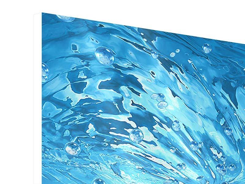 Hartschaumbild 4-teilig Wasserblasen