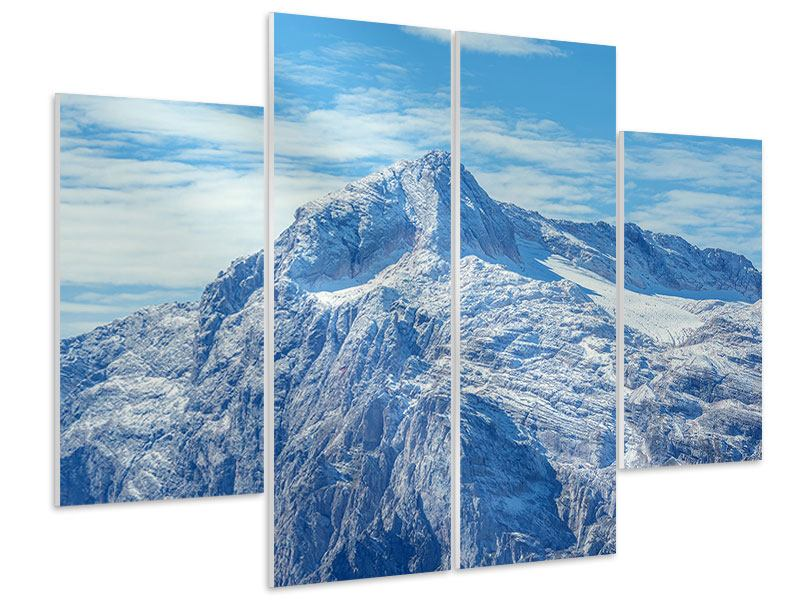 Hartschaumbild 4-teilig Friedliche Bergstimmung