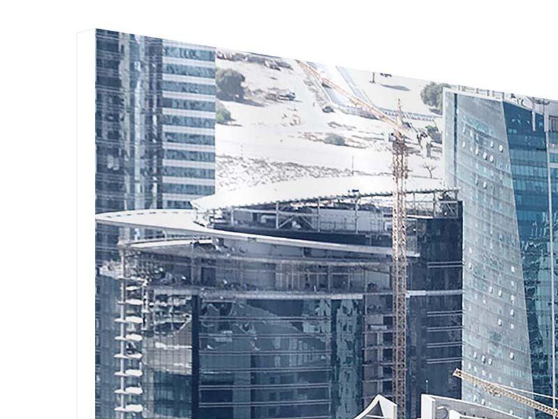 Hartschaumbild 4-teilig Die Wolkenkratzer von Dubai