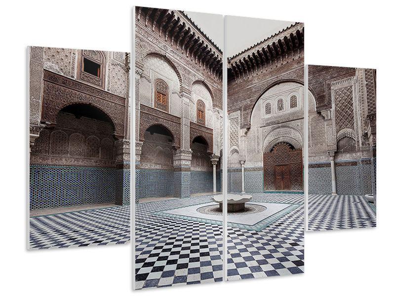 Hartschaumbild 4-teilig Orientalischer Hinterhof