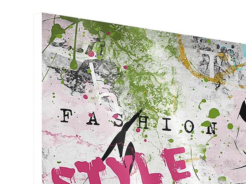 Hartschaumbild 4-teilig Fashion