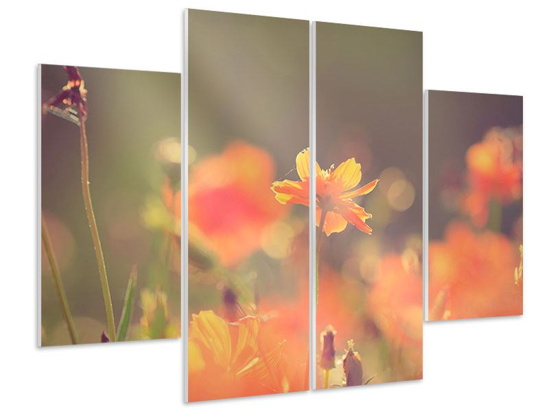 Hartschaumbild 4-teilig Blütenpracht