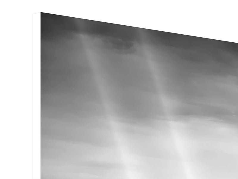 Hartschaumbild 4-teilig Skyline Schwarzweissfotografie New York