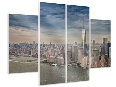 Hartschaumbild 4-teilig Skyline Manhattan