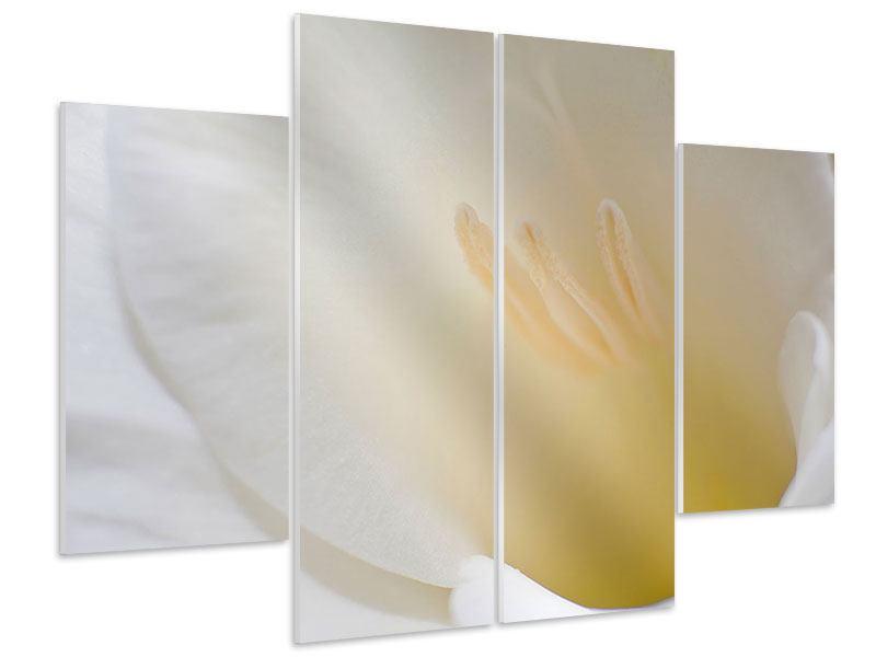 Hartschaumbild 4-teilig In einer Blüte