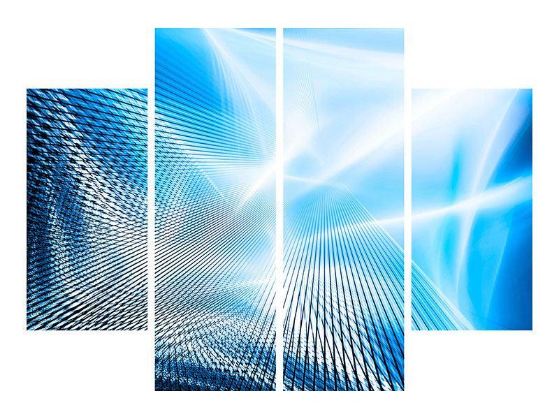 Hartschaumbild 4-teilig Laser