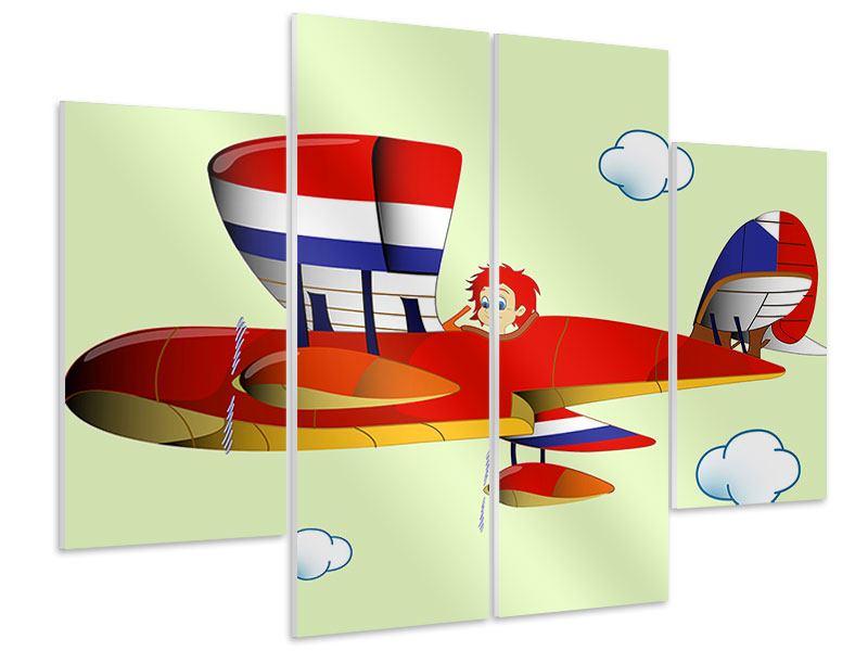 Hartschaumbild 4-teilig Der fliegende Junge