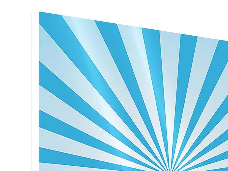 Hartschaumbild 4-teilig Retrowelle Streifenperspektive