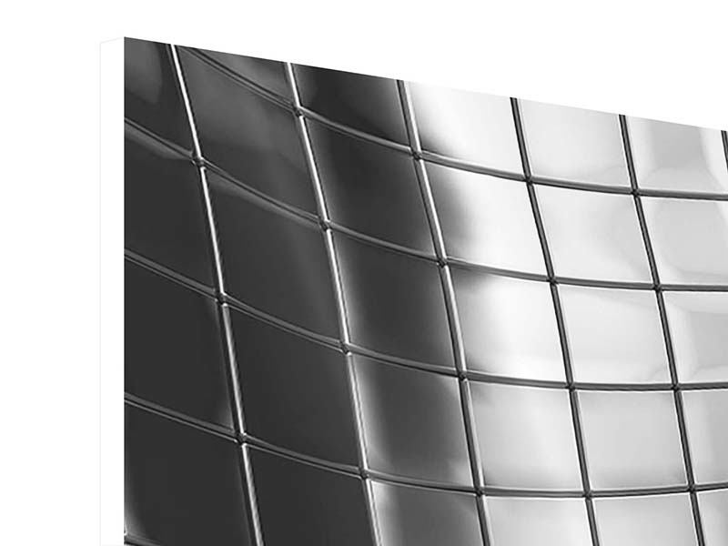 Hartschaumbild 4-teilig Abstrakter Stahl