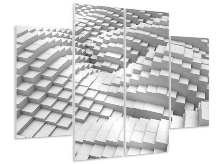 Hartschaumbild 4-teilig 3D-Elemente