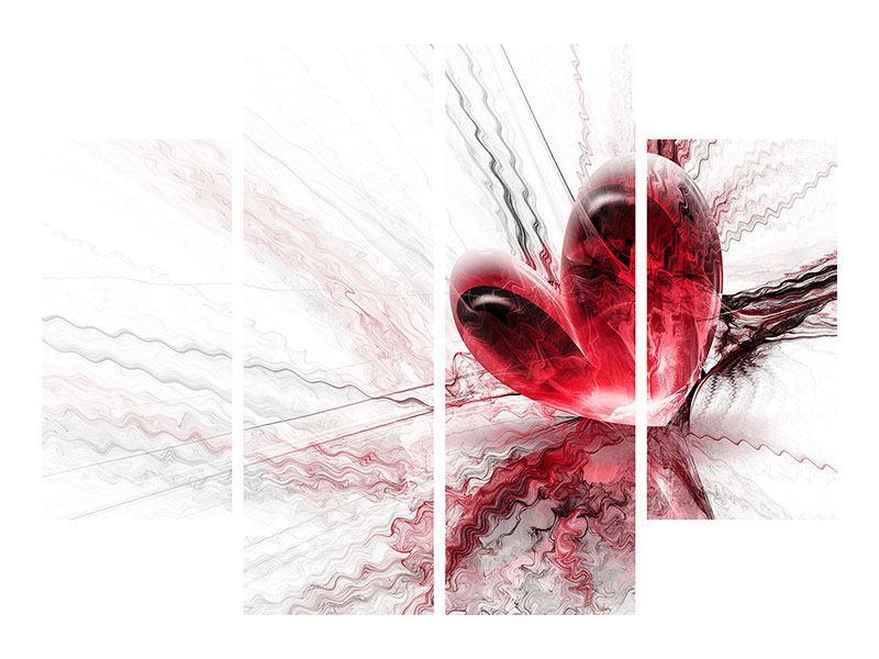 Hartschaumbild 4-teilig Herzspiegelung