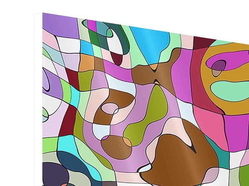 Hartschaumbild 4-teilig Kubistisches Gemälde