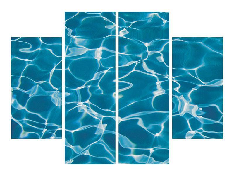 Hartschaumbild 4-teilig Pool