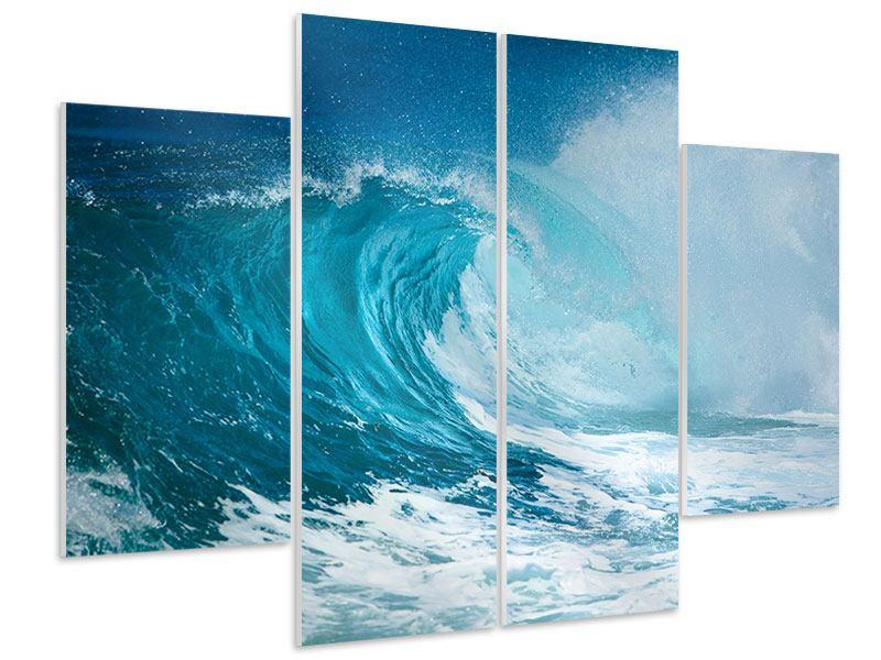 Hartschaumbild 4-teilig Die perfekte Welle