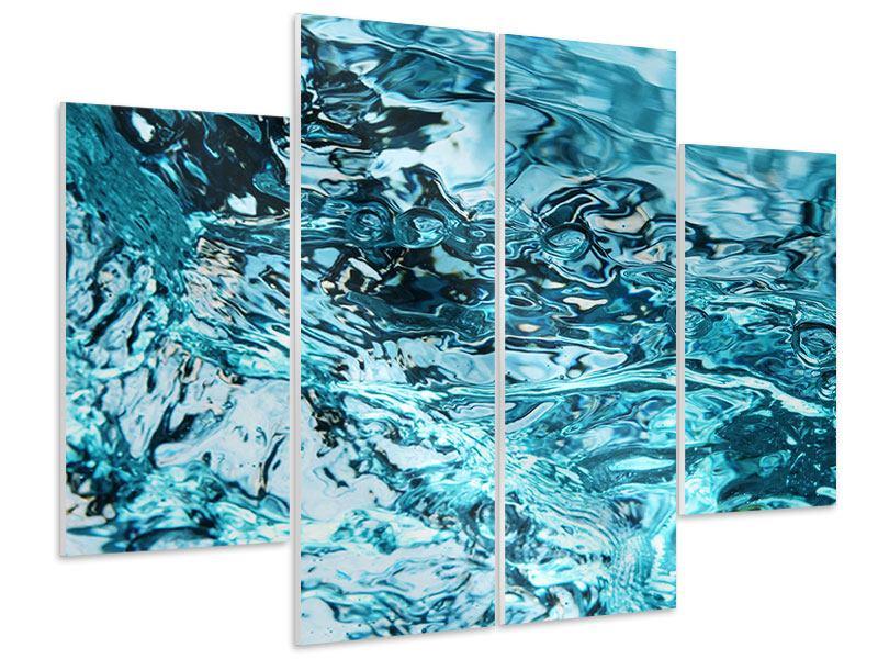 Hartschaumbild 4-teilig Schönheit Wasser