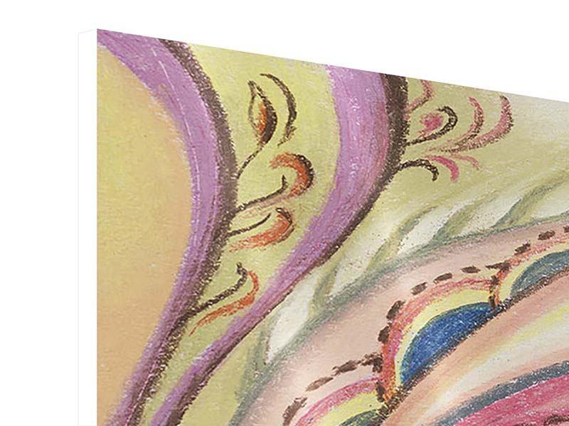 Hartschaumbild 4-teilig Paisley-Malerei